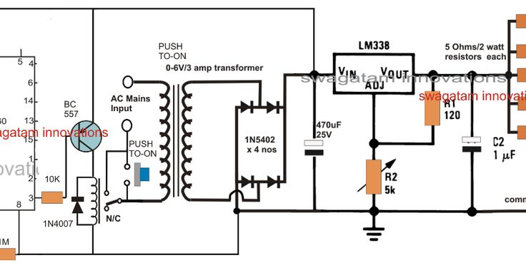 charger circuit with over current protection electronic circuit