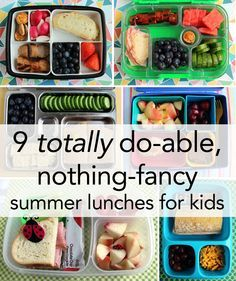 9 totally do-able, nothing fancy summer lunches for kids