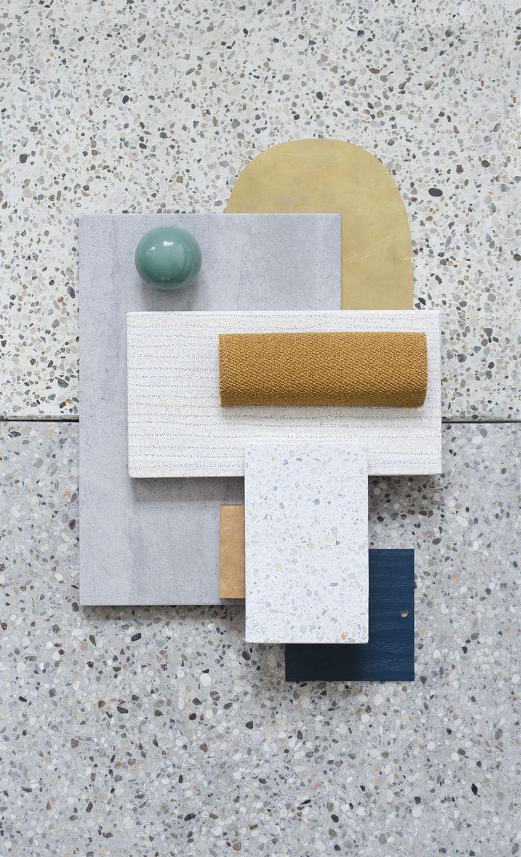 Material Mood Of The Week ~ Minimal & Curvy #interiordesign #architecture #design #interior #inspiration #materials #mood #materialmood #moodboard #layering #colors #studiodavidthulstrup