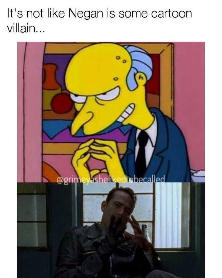"#thewalkingdead #twd  #negan  Vs. #burns    Frank Grimes (@grimeyashelikedtobecalled) on Instagram: ""Yesssss . . #thesimpsons #TheWalkingDead #mrburns #amcthewalkingdead #twd #thewalkingdeadfamily…"""