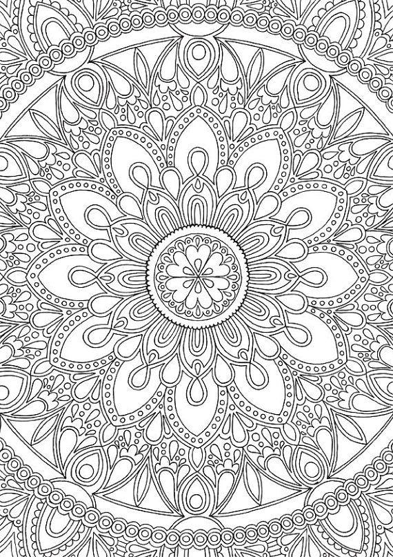 Delightful Mandala - Colour with Me HELLO ANGEL - coloring, design, mandala, detailed, meditation, coloring for grown ups, petals