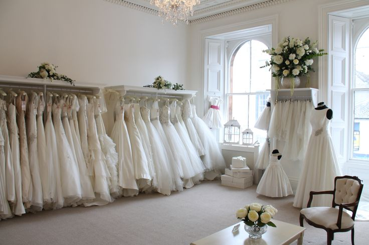 Our beautiful gowns in the Bridal Room.
