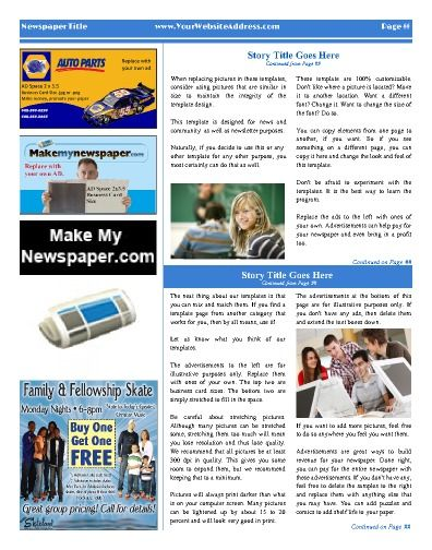 9 Best Church Newspaper Templates Images On Pinterest | Free Cloud