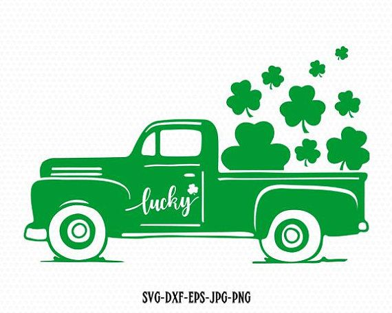 Saint patricks day vintage old Truck car Svg, Shamrock SVG, Saint Patrick's DayS…
