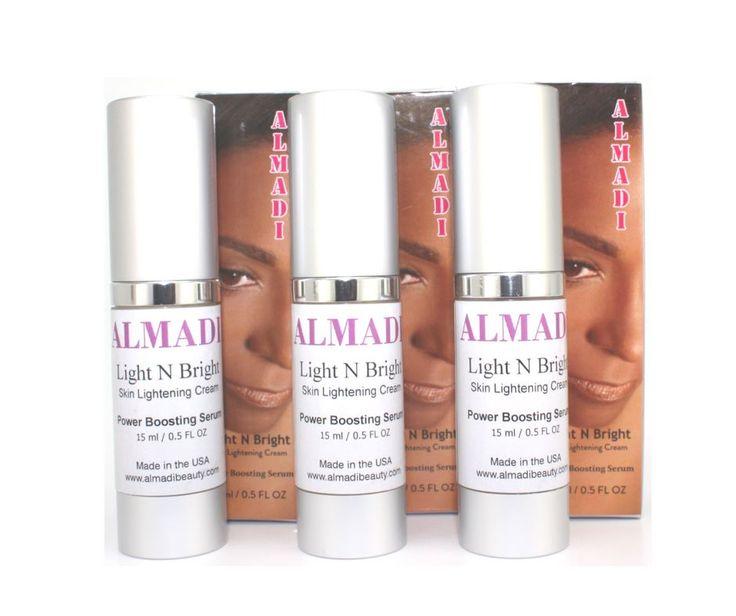 Almadi Light N Bright Skin Lightening Cream - Power Boosting Serum 3 Pack Bundle Super Duper Deal