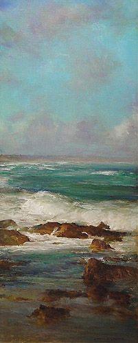 """""""Seascape"""", Oil on Linen, 35 x 85 cm, by John McCartin"""