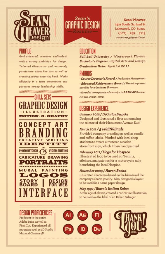 28 amazing examples of cool and creative resumescv - Creative Resumes