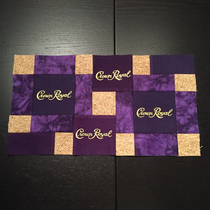 crown royal quilts patterns - gold block- use purple with gold, rectangular…