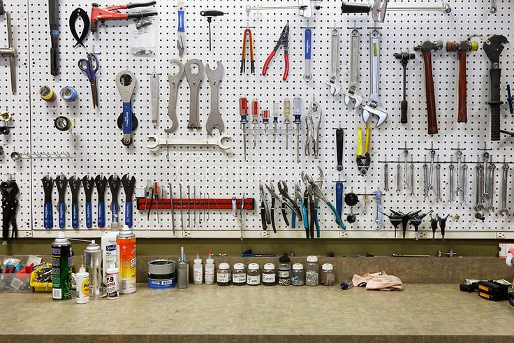 A bicycle shop and repair workshop.
