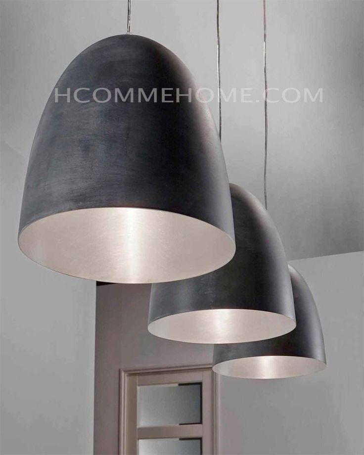 Luminaire suspension design noir claudio 3 lampes for Luminaire noir suspension