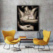 "Tabloul ""Courageous Act"" ne ofera un indemn de curaj.  #curaj #dragoste #imbratisare #nud #oameni #pasiune #tablou #viata #poster #tablouri #tablouricanvas"