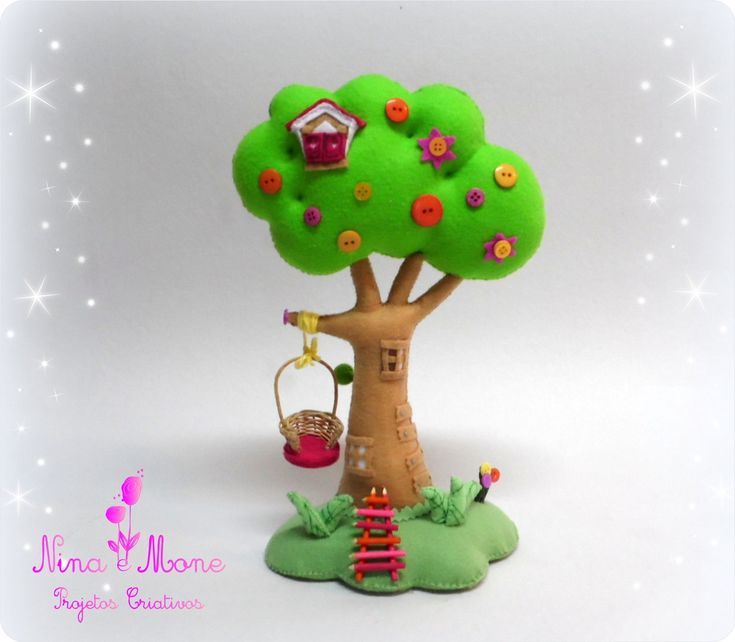 Árvore Lalaloopsy em Feltro | Nina e Mone | Elo7