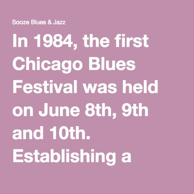 In 1984, the first Chicago Blues Festival was held on June 8th, 9th and 10th. Establishing a tradition that would continue through the years, a theme was chosen for the Festival. Generally it honors a recently departed blues musician or pays tribute to one of its legendary masters. Muddy Waters, considered by many to be the father of the Chicago blues, died on April 30, 1983, and the organizers, rightfully so, chose to celebrate this gifted musician and his far-reaching legacy.