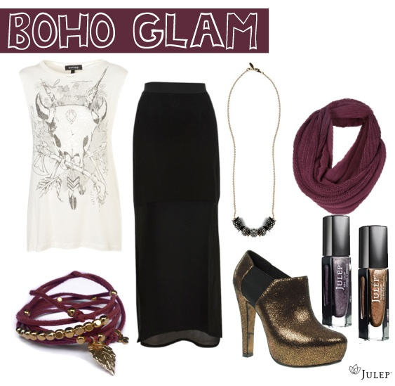 boho glam... love this look.