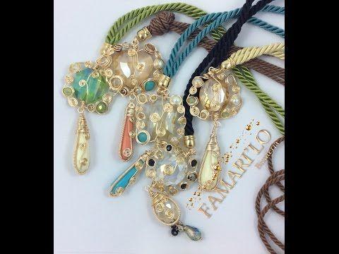 Collares artesanales collares de perlas modernos cursos de bisuteria alambrismo bisuterias - YouTube
