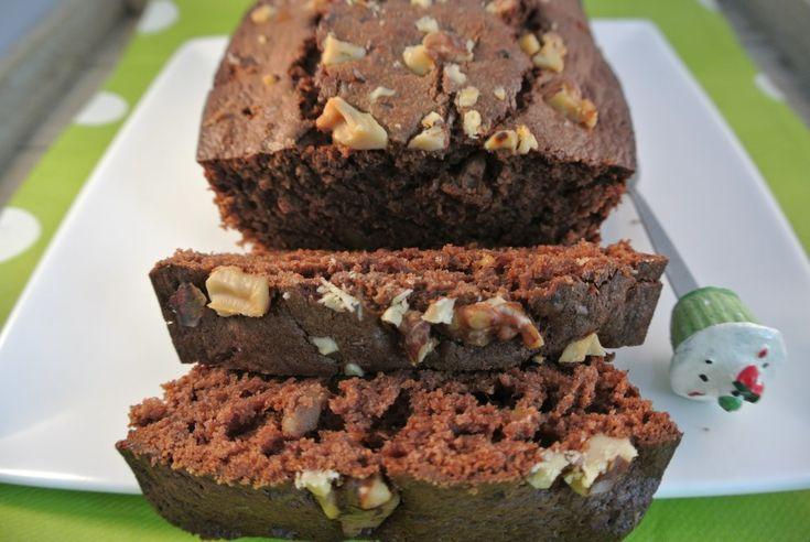 Chocolade-bananen-walnoten cake - Lekker en Simpel