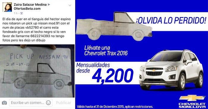 Tras publicar un video de zaira la mujer del meme de la pick up, Chevrolet le va a regalar una camioneta S10 2016 ya que logró alcanzar el millón de likes.