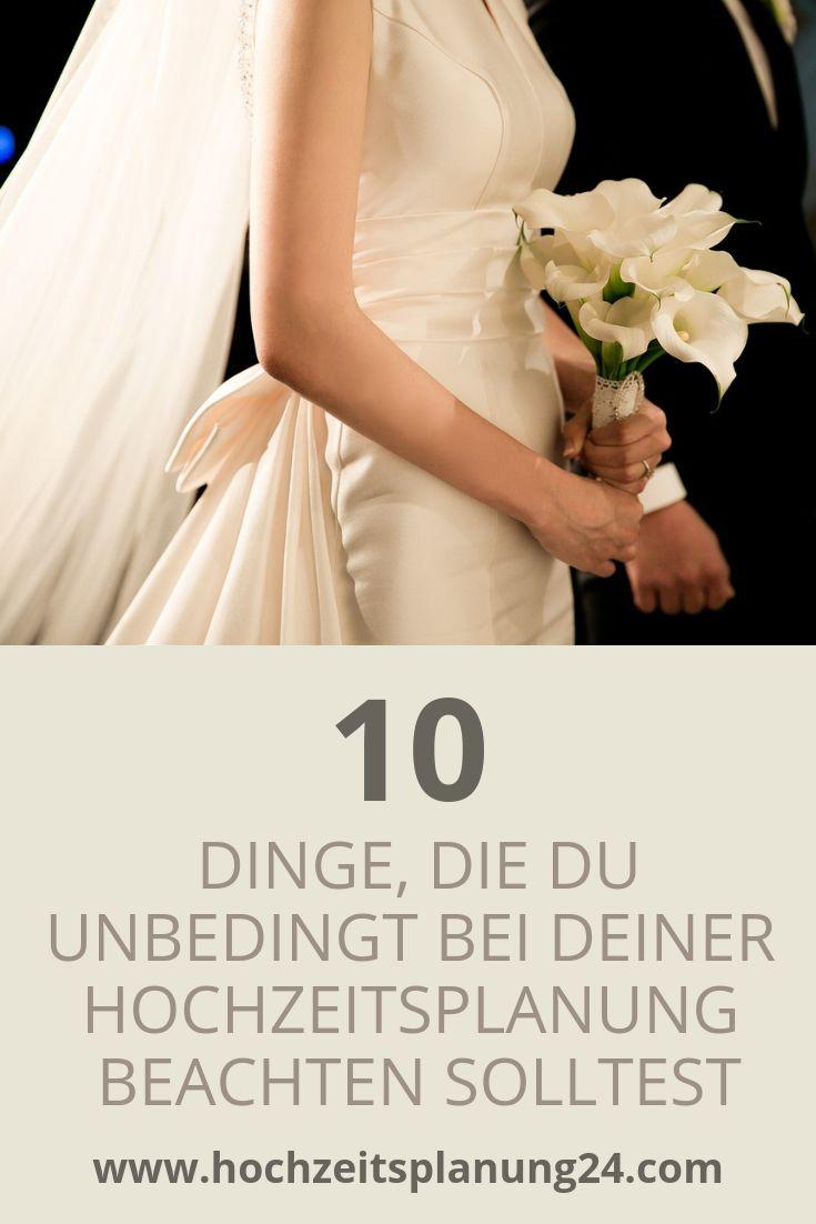 10 Dinge die du unbedingt bei deiner Hochzeitsplanung