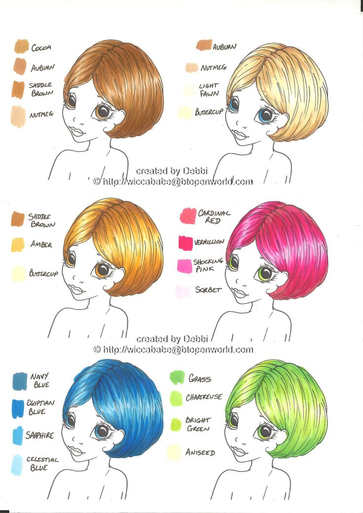Fun bright hair color blends