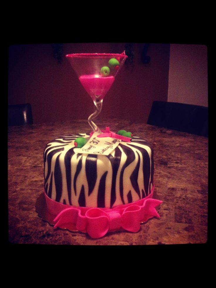 Zebra Print Cocktail Cake Piece Of Cake Cake S By Abby
