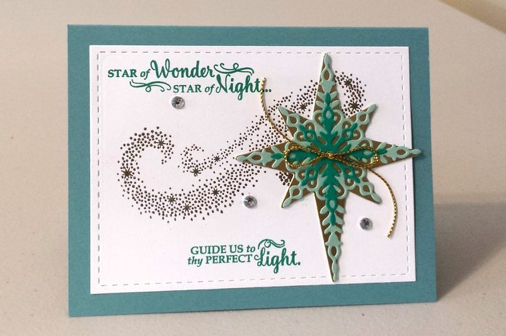 Casing the Catty: Stampin' Up! Star of Light, Starlight Thinlits Dies
