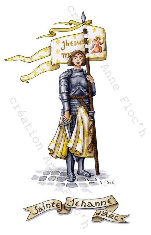 Aquarelles de Sainte Jeanne d'Arc