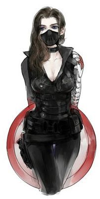 Marvel Comics -- Winter Soldier (FEMALE) Cosplay Costume Version 03