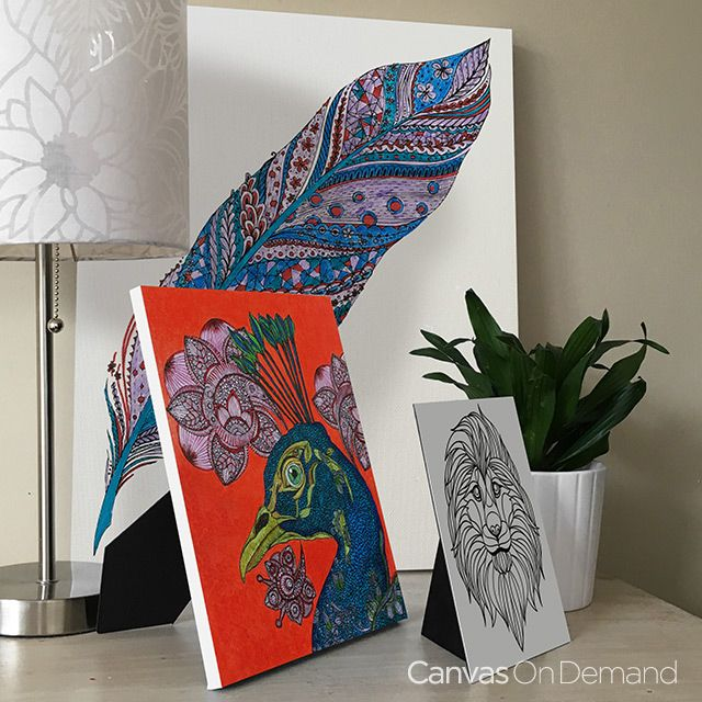 relieve stress and create art for your walls with our coloring canvas wall art we