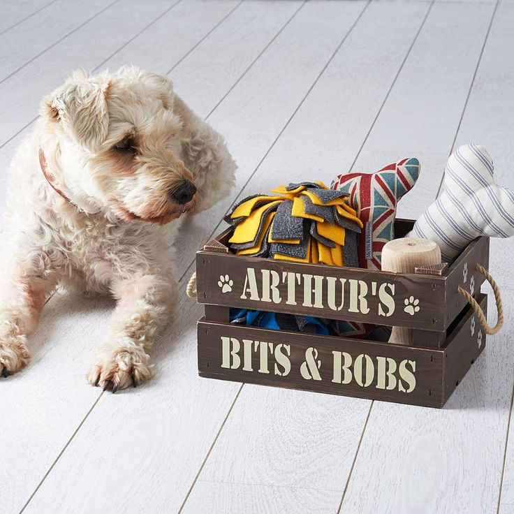 personalised pet treat and toy crate by rose cottage | notonthehighstreet.com