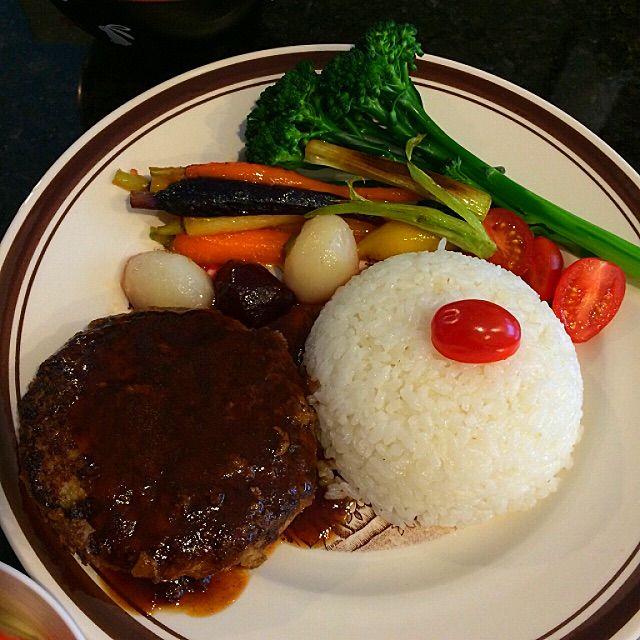 Japanese Hamburg Steak Recipe - coasterkitchen - Dayre