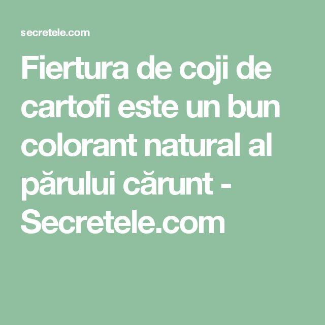 Fiertura de coji de cartofi este un bun colorant natural al părului cărunt - Secretele.com