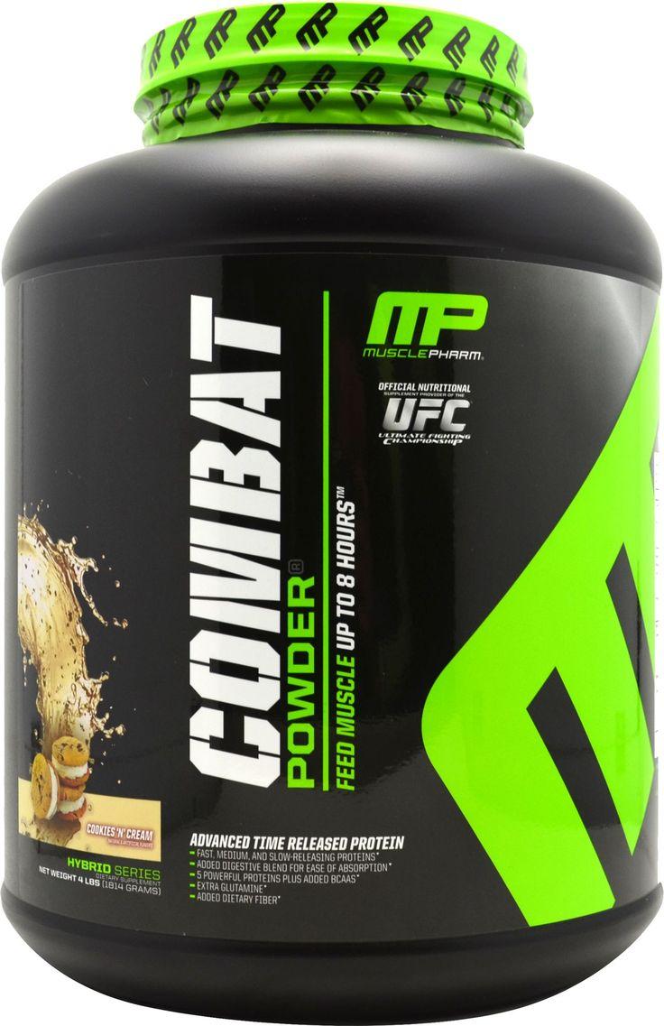 Muscle Pharm Combat Protein Powder Cookies N' Creme 4 lbs ...