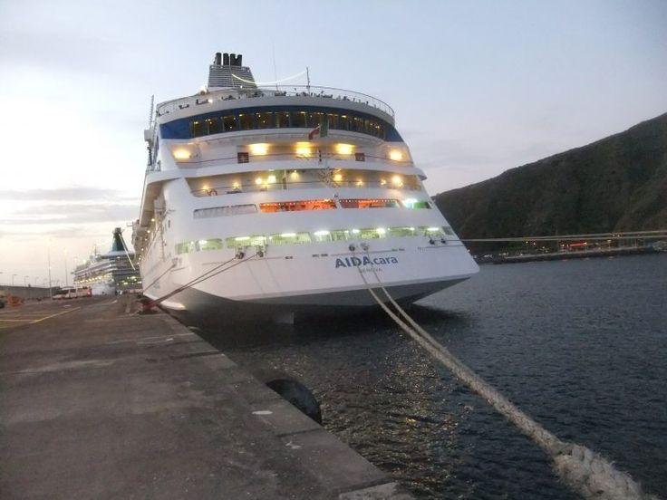 Aidacara Mann über Bord