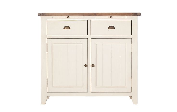 Santiago Narrow Sideboard - This little gem of a freestanding sideboard is made from reclaimed timbers and has a pretty, vanilla painted finish.
