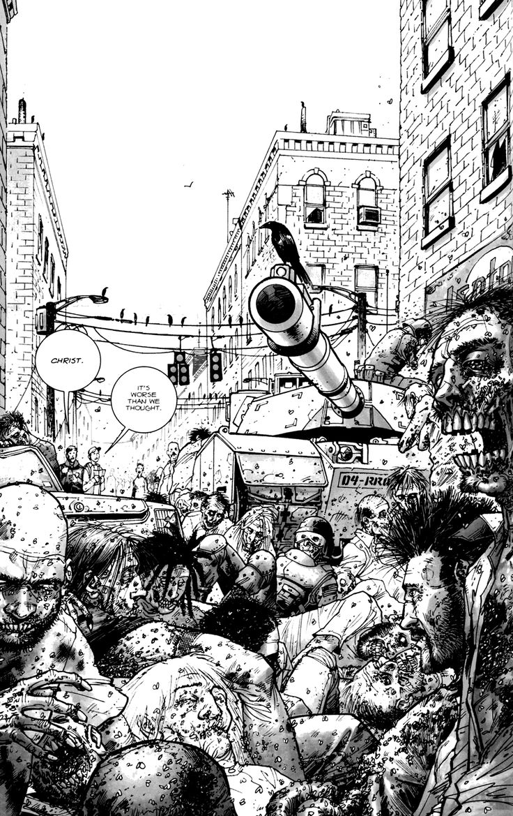 The Walking Dead comic illustration