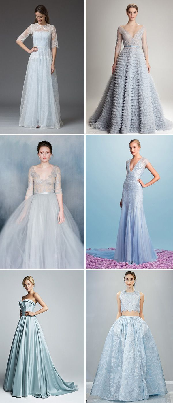 Designer Blue Wedding Dresses |  see more beautiful blue wedding dress on www.onefabday.com