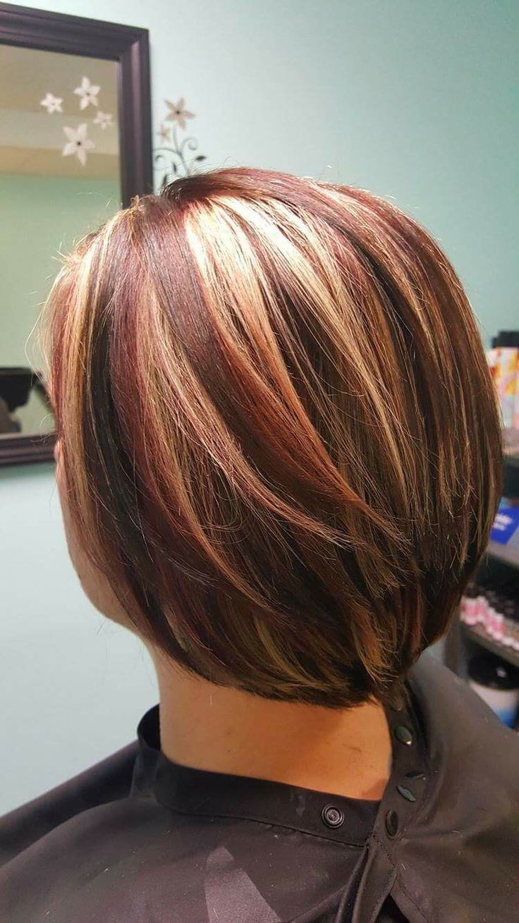 red and blonde highlights hair