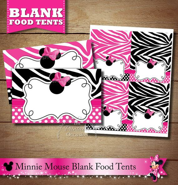 Minnie Mouse Zebra Print Baby Shower: 48 Best Zebra Minnie Mouse Invitations & Party Printables