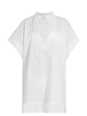 17201 lace-insert cotton-blend kaftan | Lila Eugenie | MATCHESFASHION.COM