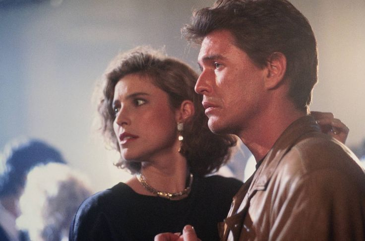 Mimi Rogers and Tom Berenger in Someone to Watch Over Me.  I loved this movie, too.