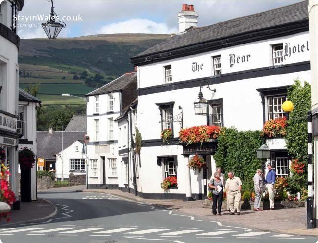 The Bear Hotel in Crickhowell, Wales, UK