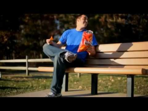 The Dorito's commercials are one of the most popular ad's during the Super bowl. In each commercial the overall theme is the delicious taste of Doritos make people, and in this case animals, do anything to get and keep them.   http://www.youtube.com/watch?v=EcDzc2UKAHY