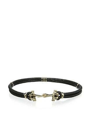 53% OFF J. McLaughlin Women's Antique Gold Hook Belt (Black)