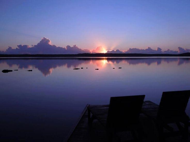 lake weyba | Sunset over Lake Weyba, Noosa, Sunshine Coast, Australia - enlarge…