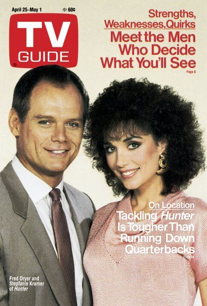 TV Guide_April 25..'Hunter'...Fred Dryer & Stepfanie Kramer