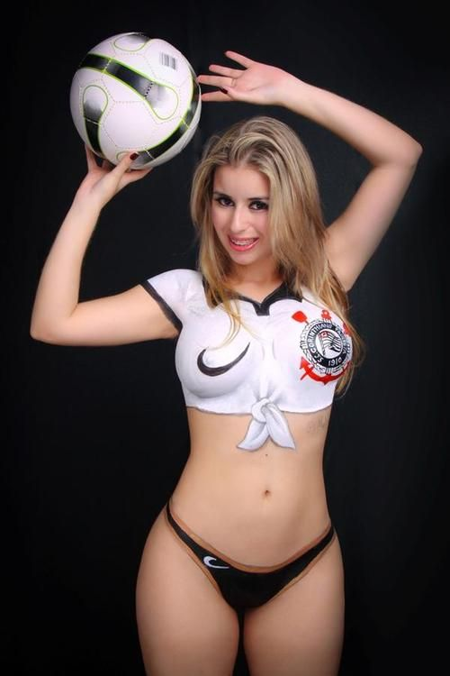 10 best images about sport babes on pinterest football for Body paint girl photo