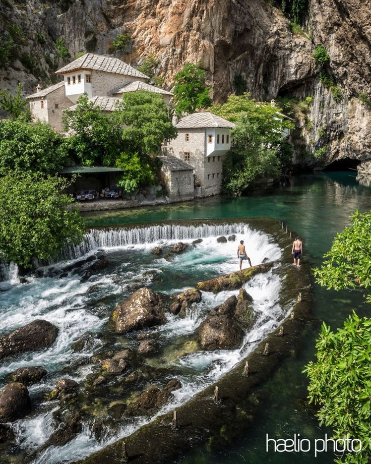 Blagaj dervish monetary in Bosnia & Herzegovina and the Buna river on a hot summer afternoon.  #Blagaj #tejika #buna #bosniaandherzegovina #balkans #bosnia #summer #monastery #igersbosnia #traveleurope #river #europe_vacations #travel #wondersoftheworld