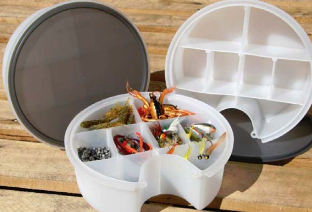 Hobie gear bucket for storing fishing tackle
