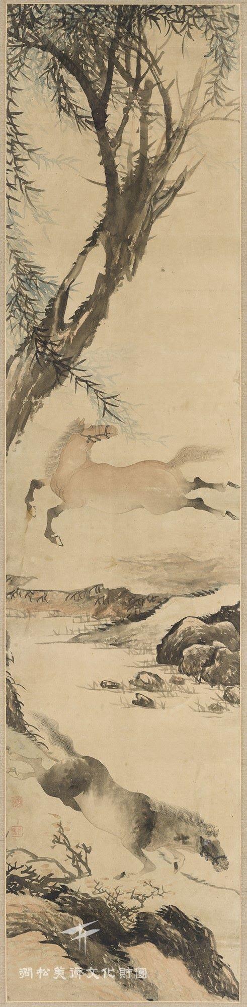 오원 장승업 (1843-1897), 호치비주, 19세기 말 작품, 수묵채색화, 지본채색.