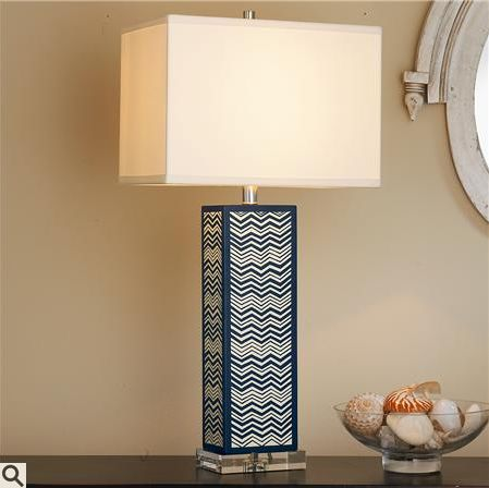 chevron column table lamp from shades of light